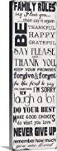 Family Rules Canvas Wall Art Print, 20