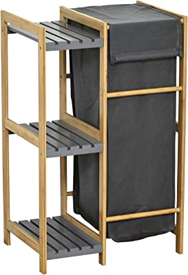 Gelco Design Norm Desserte Plateau 2 Tiroirs 33 x 34 x 78 cm Bambou Blanc//Naturel
