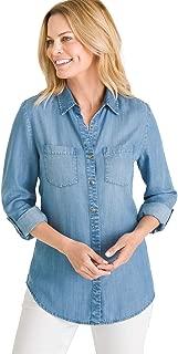 Chico's Women's Half-Button Denim Shirt