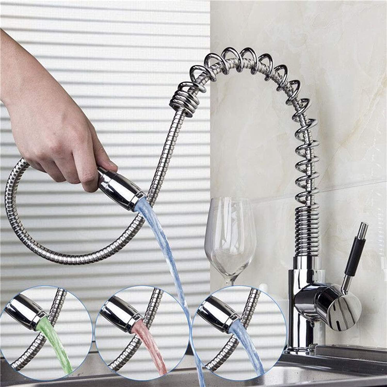 Hervorragend WAZ Wasserhahn KüChe Chrom DREI Farben LED SpüLe Wasserhahn Feder PA18