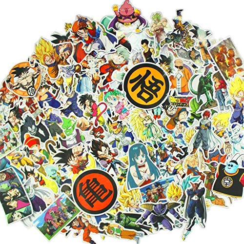 Dragon Ball Z Laptop Stickers 100Pcs Anime Waterproof Stickers for Skateboard Luggage Helmet Guitar Skateboard Stickers for car laptop phone Suitcase stickers