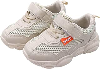 Hopscotch Boys Mesh Fabric, PU Strap with Fixed Lace Athletic Shoe in Beige Color