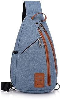 Men Chest Pack Large Sling Shoulder Bag Multifunction Crossbody Bag Travel Messengers Pack