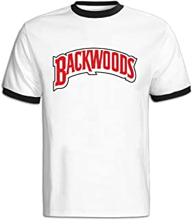 Dvigo Men's Backwood Cigars Logo Color Block 100% Cotton T-Shirt