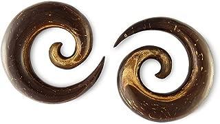 Scrap Metal 23 Pair Coconut Wood Spirals 4mm - 6g