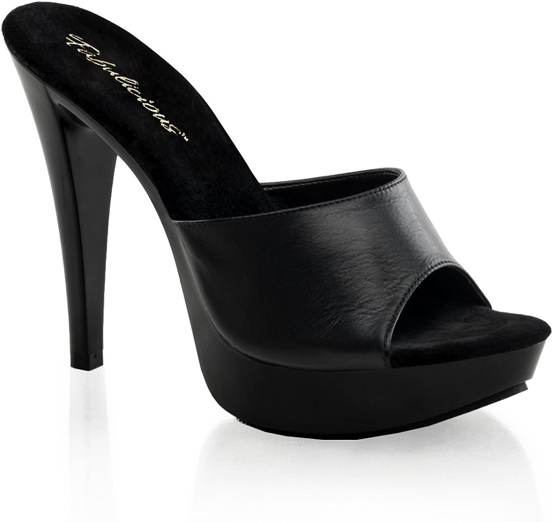 Fabulicious Women's Cocktail 501L Platform Sandal, Black, 11 M US