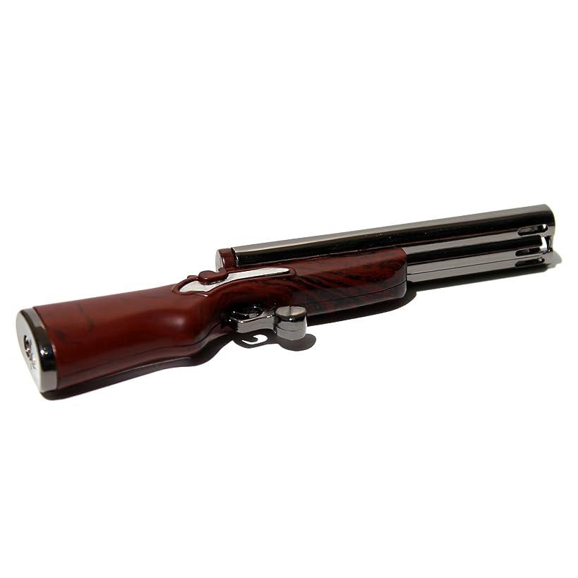 B10 Double Barrel Shotgun Novelty (Not Real) Refillable Butane Lighter - Dual Flames - 4.75 Inch - Unboxed -