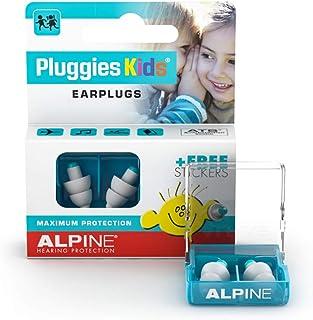 Alpine Pluggies Kids Oordoppen voor kinderen - Oordopjes voor kleine gehoorgangen - Voor Vliegen, Zwemmen en Concentratie...