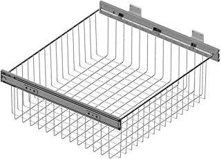 Cesto extraíble de rejilla metálica para mueble de cocina - Ancho 262-268 mm
