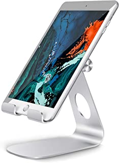 Tablet Stand Adjustable, Lamicall Tablet Holder: Desktop Holder Dock Cradle Compatible with iPad Pro 12.9, 10.5, 9.7, Air Mini 2 3 4, Nexus, Accessories, Tab (4-13 Inch) - Silver