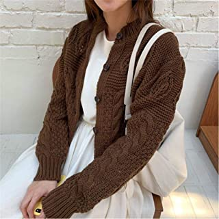 LJLLINGA Stylish Thicken Casual Twisted Autumn Cardigans All-Match Full-Sleeved Brief Women Basic Short Sweaters