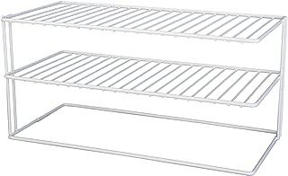Panacea Grayline 40126, Large Two Shelf Organizer, White