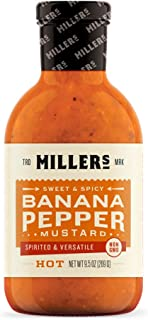 MILLERS MUSTARD Mustard Banana Pepper Hot, 9.5 OZ