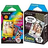 Instax MiniPelícula fotográfica, Cómic, Pack 10 películas + Mini RainbowPelícula instantánea