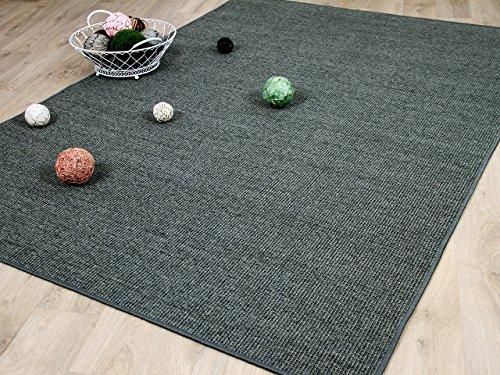 DEKOWE Sisal Natur Teppich Grau Blau Mix in 24 Größen