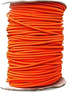 CUTICATE 4 mm bungee-sladd elastisk stöt rep snörda för marin kajak båt – orange, 5 m