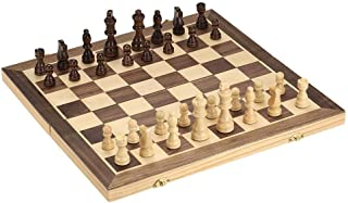 Foldable Wooden Chess Set International Chess Entertainment Game Chess Set Folding Board Educational Chess Magnetic Chess