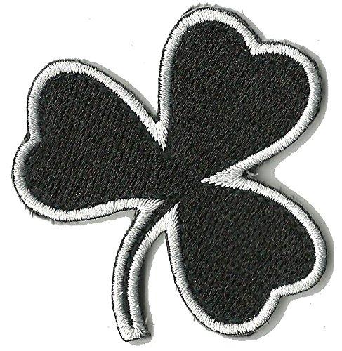 Die Cut Irish Clover Tactical Patch 2'x2' - Black