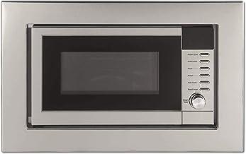 Amica EMW 13184 E Integrado - Microondas (Integrado, Microondas con grill, 20 L, 800 W, Botones, Acero inoxidable)