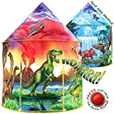 W&O Dinosaur Discovery Kids Tent with Roar Button, an Extraordinary Pop Up Tent for Kids, Dinosaur...