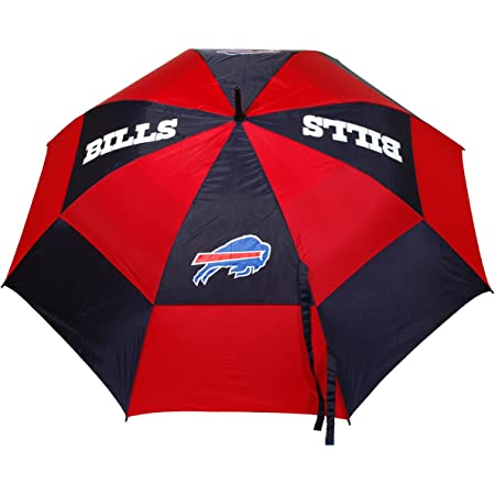 """Team Golf NFL Buffalo Bills 62"""" Golf Umbrella with Protective Sheath, Double Canopy Wind Protection Design, Auto Open Button"""
