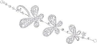 Pixnor Copricapo Sposa-Sposa Capelli Decorazione con Strass Farfalla Modello per le Donne