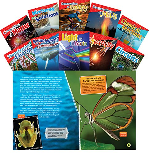 Teacher Created Materials - Science Readers: Content and Literacy: Let's Explore Physical Science - 10 Book Set - Grades