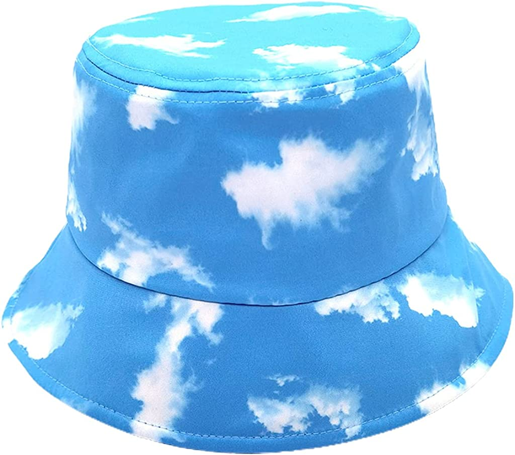RTUGOVT Reservation Bucket Hat with Now free shipping Printed Cloud Trav Fisherman Pattern