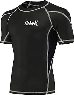 Mens Compression Shirts Base Layer Athletic Gym MMA BJJ Rash Guard No Gi Short Sleeve Rashguard Shirt for Men
