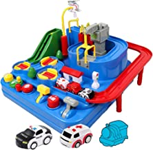 LINGLING-Track Track Toy Children Car Mini Pull Back Car Toys Parent-Child Interactive Toy 2-7 Years Old Birthday Gift Electric Creative Assembly (Size : 2)