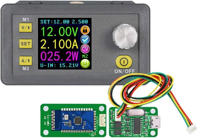 diymore DPS5005 Programmable Communication Constant DC-DC Voltage Current Buck Converter CC CV Adjustable Power Supply Step-Down Module Voltmeter Ammeter 50V 5A(DPS5005+USB+BT)