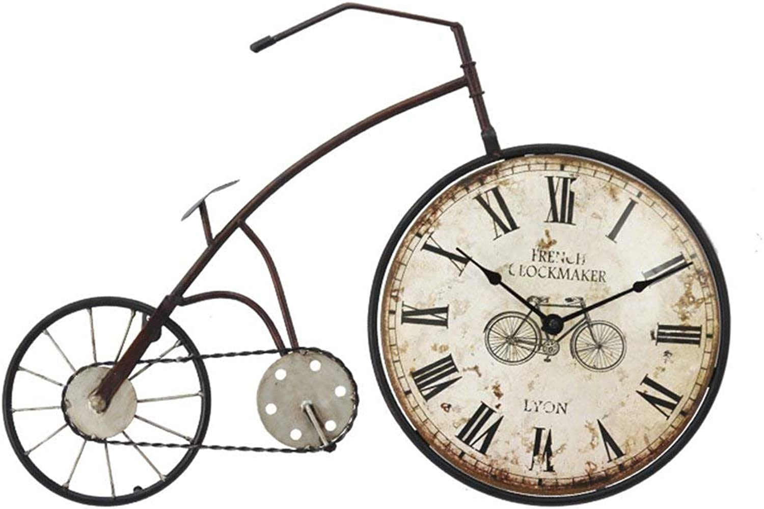 American Style Retro Iron Bicycle Wall Decoration Cafe Wall Decoration Home Wall Clock Wall Hangings Decorations (color    1)