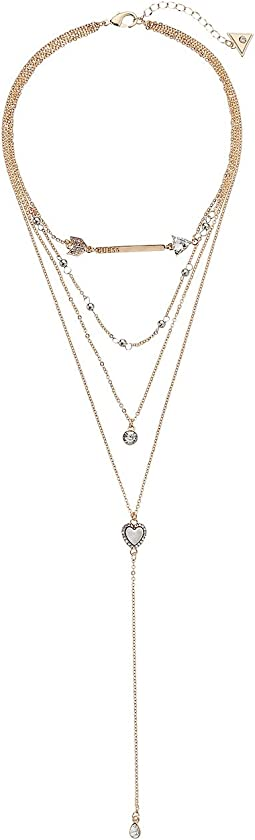 GUESS - 4 Row Necklace with Choker to Y Necklace