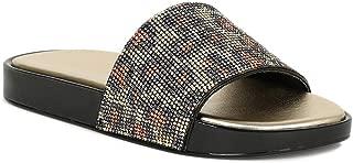 Women Rhinestone Embellished Slide Jelly Sandal