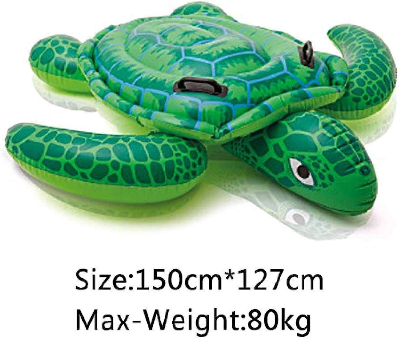 LIUGAOHUA Hngematte und Liege Aufblasbare schwimmende Reihe aufblasbare Bett Erwachsene Kinder Tier Schwimmen aufblasbares Spielzeug 150  127cm Tortue de chéri