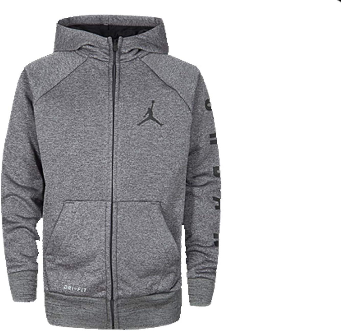 Nike Air Jordan Big Boys' Dri-Fit Therma Zip Hoodie