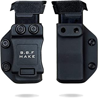 B.B.F Make Single IWB/OWB Magazine Holster   Mag Carrier   Ambidextrous   Retired Navy Owned Company   Available Model: M&P Shield 9/40, Glock 4/90/357, Sig P365, Glock 43
