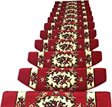 JIAJUAN Stair Carpet Treads Non-Slip Thick Self Adhesive Large Stairs Pads Easy to Clean Indoor, 14 Mm, 5 Styles, 5 Sizes ...