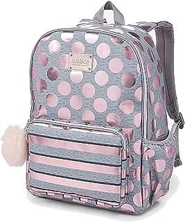 Justice Rose Gold Foil Backpack