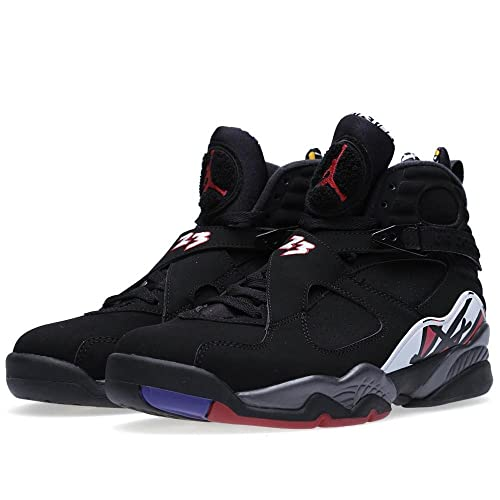premium selection 83f01 61038 Nike Mens Air Jordan 8 Retro Playoff Black Varsity Red Leather Basketball  Shoes Size 12