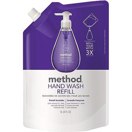 ハンドソープ 液体 おしゃれ メソッド(method) ジェルタイプ フレンチラベンダーの香り 手洗い 詰め替え用 1000ml 業務用 ソープディスペンサー