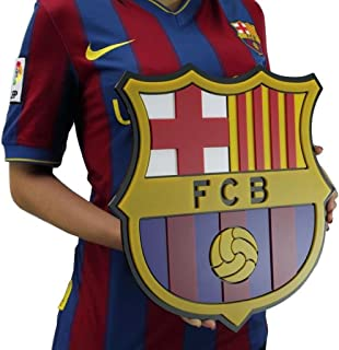Barcelona FC acrylic crest shield, history book of crest shield