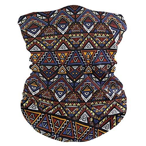 XIXIKO - Bandana de patrón tribal indio azteca para la cara, protección contra el polvo, UV, multifuncional, para cuello, bufanda, para mujeres, hombres, deportes al aire libre, senderismo, deportes