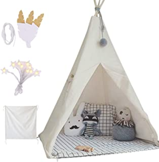 little dove Kids Foldable Teepee Play Tent with Carry...