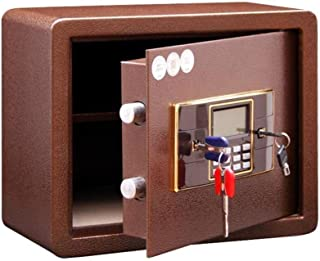 Safe Safes Safety Box Electronic 2.4cm Solid Lock Bolt Money Box Currency Cash Storage Box Bronze For Office Or Home Use W...