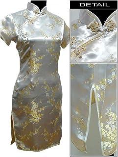6Xl Chinese Traditional Sexy Dress Ladies Satin Cheongsam Mini Cheongsam