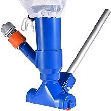 Tophappy Juego de limpieza para piscina, accesorio para piscina, aspirador de vacío + depósito colector, barra extensible variable, limpieza de suelo