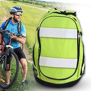 succeedw Mochila Reflectante, Mochila De Bicicleta De Alta Visibilidad Mochila Luminosa Reflectante para Montar con Cinturón Reflectante para Senderismo Camping Viajar Ultraligero Hombres Mujeres