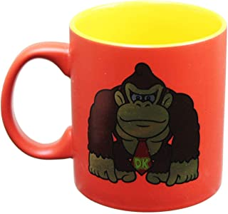 Nintendo OFFICIAL Donkey Kong Red and Yellow Holographic Foil Printed PREMIUM Ceramic Coffee Mug, 16ozÂ