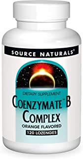 Source Naturals Coenzymate B Complex - Orange Flavor That Melts in Mouth - B Vitamins - 120 Lozenges
